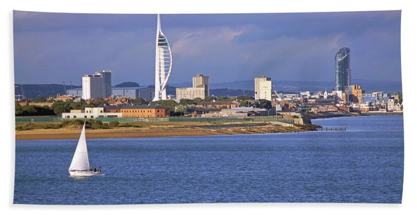 Spinnaker Tower And Gunwharf Quays Hand Towel
