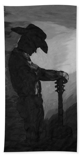 Spirit Of A Cowboy Hand Towel