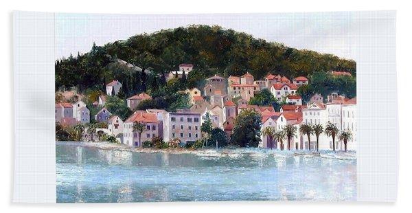 Split Harbour Croatia Hand Towel