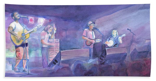 Split Lip Rayfield Wakarusa 2005 Hand Towel
