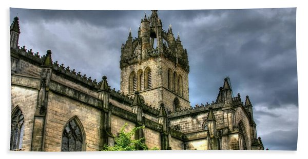 St Giles And Tree Hand Towel