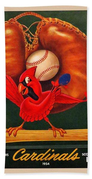 St. Louis Cardinals Vintage 1954 Scorecard Hand Towel