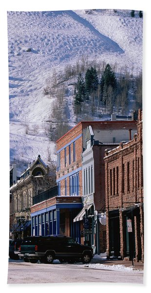 Storefronts, Aspen, Colorado Hand Towel