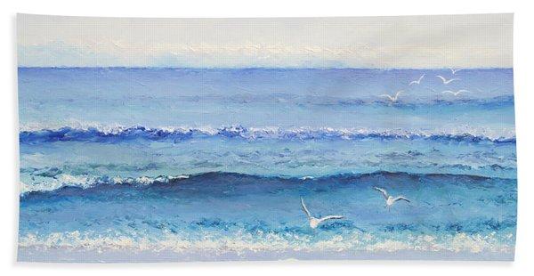 Summer Seascape Hand Towel