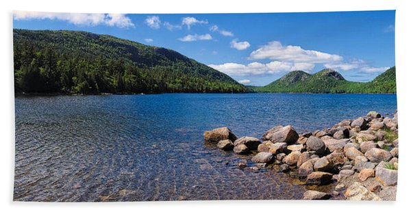 Sunny Day On Jordan Pond   Bath Towel