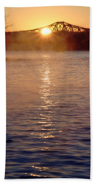 Sunrise Over Table Rock Hand Towel