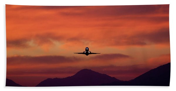 Sunrise Takeoff Bath Towel