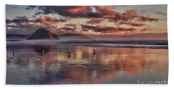 Sunset At Morro Strand Bath Towel