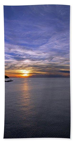 Sunset In Adriatic Bath Towel