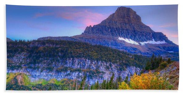 Sunset On Reynolds Mountain Hand Towel