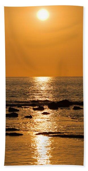 Sunset Over Kona Hand Towel