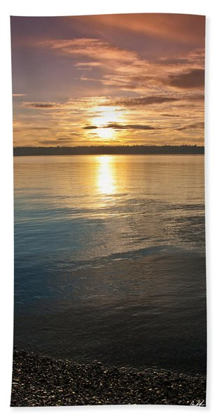 Sunset Over Puget Sound Hand Towel