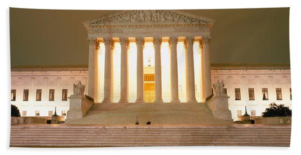 Supreme Court Building Illuminated Hand Towel