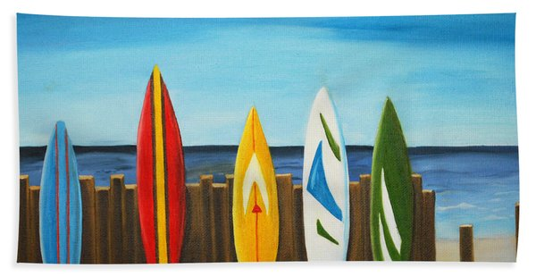 Surf On Bath Towel