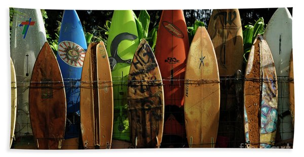 Surfboard Fence 4 Hand Towel