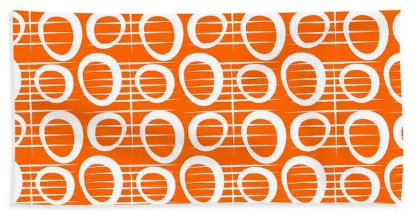 Tangerine Loop Hand Towel