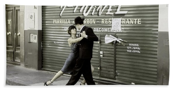 Tango On The Streets Of Buenos Aires- Argentina II Hand Towel