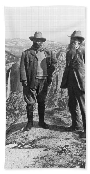 Teddy Roosevelt And John Muir Bath Towel