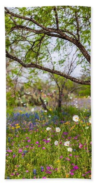 Texas Roadside Wildflowers 732 Hand Towel