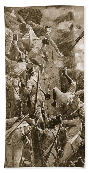 The 5th Division Storming By Escalade Bath Towel