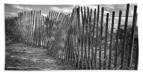 The Beach Fence Bath Towel