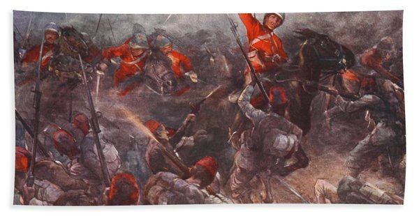 The Charge Of Drury Lowes Cavalry Bath Towel