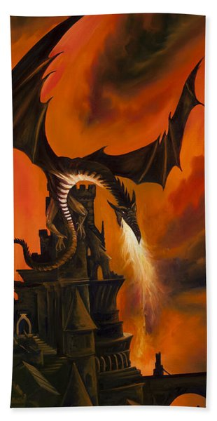 The Dragon's Tower Hand Towel