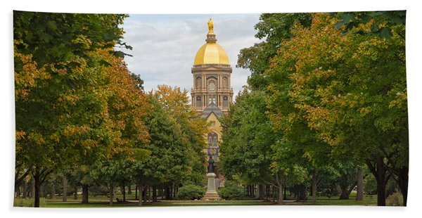 The Golden Dome Of Notre Dame Bath Towel