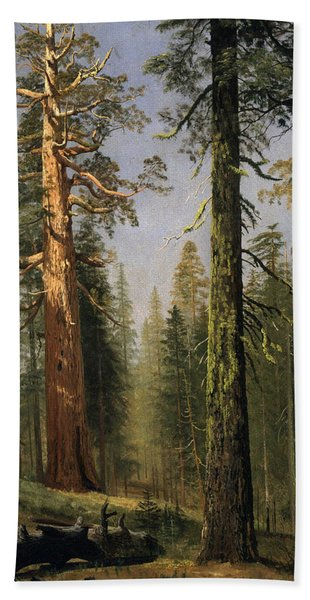 The Grizzly Giant Sequoia Mariposa Grove California Bath Towel