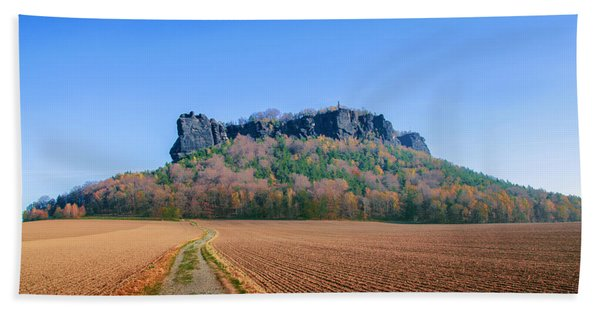 The Lilienstein On An Autumn Morning Hand Towel