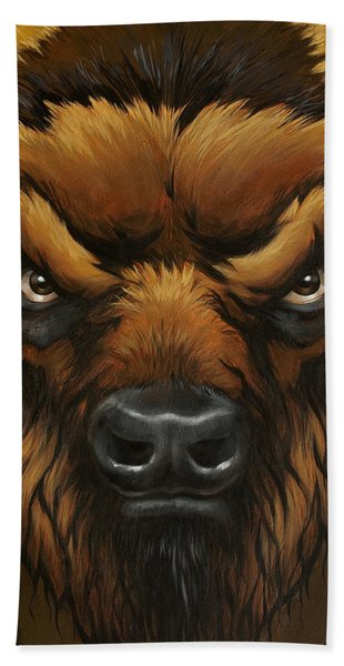The Mighty Bison Hand Towel