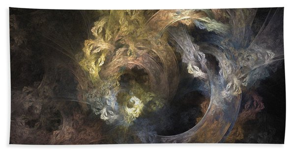 The Mystical Garden - Abstract Art Bath Towel