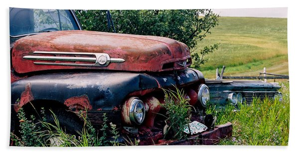 The Old Farm Truck Bath Towel
