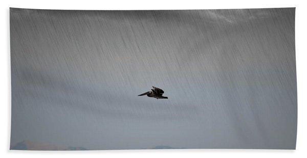 The Persevering Pelican Hand Towel