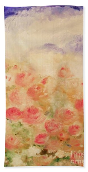 The Rose Bush Bath Towel