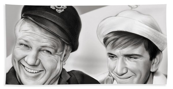 The Skipper And Gilligan Hand Towel