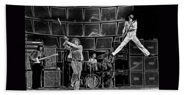 The Who - A Pencil Study - Designed By Doc Braham Hand Towel
