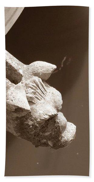 Thirsty Gargoyle - Sepia Bath Towel