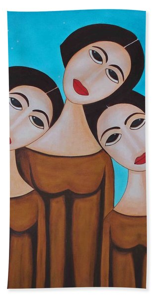 Three Angels Bath Towel