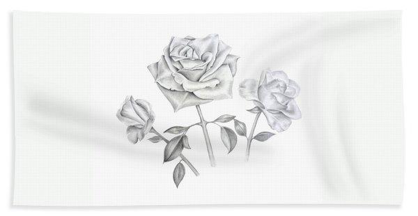 Three Roses Bath Towel