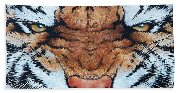 Tiger Eyes Hand Towel