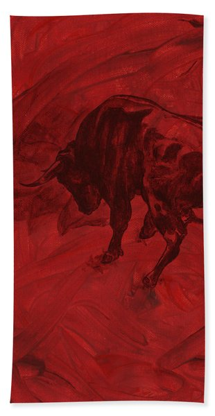 Toro Painting Hand Towel