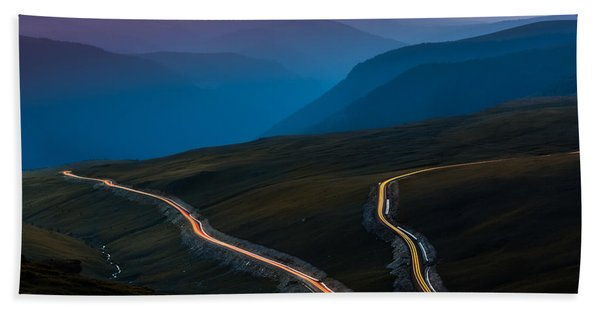 Hand Towel featuring the photograph Transalpina by Mihai Andritoiu