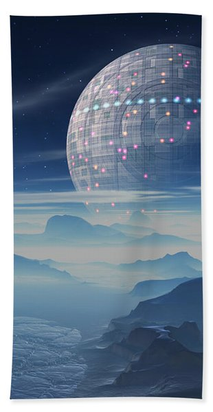 Tranus Alien Planet With Satellite Hand Towel