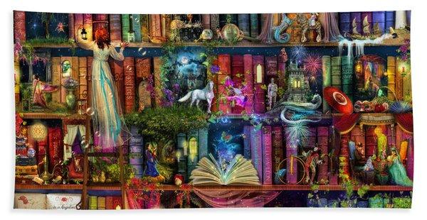 Fairytale Treasure Hunt Book Shelf Bath Towel