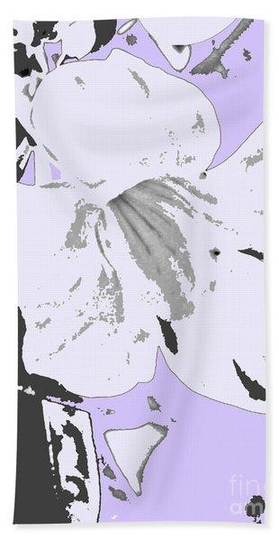 Tropical Floral Violet Black Bath Towel
