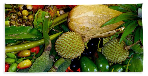 Tropical Fruits Hand Towel