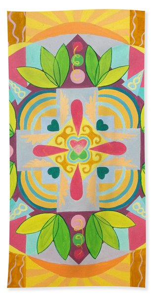 Tropical Mandala Hand Towel