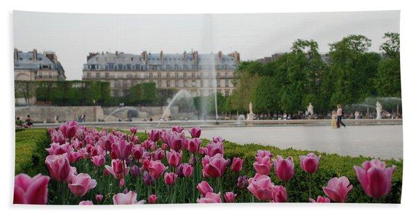 Tuileries Garden In Bloom Bath Towel