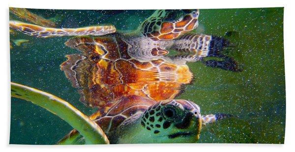 Turtle Reflection Hand Towel